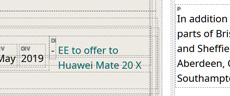 BT huawei phone in release 230