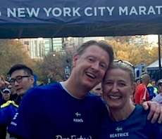 Vestberg and wife marathon