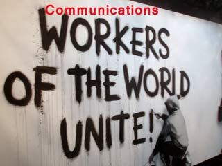 Communications workers unite Banksy320