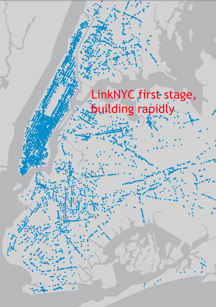 LinkNYC map